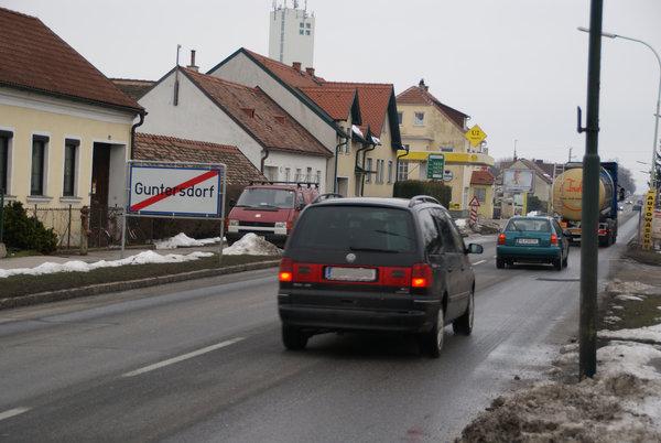 Straßenverkehr Guntersdorf